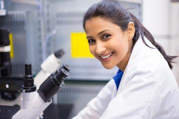 Smiling scientist, doctor