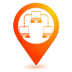 intranet sur symbole localisation orange