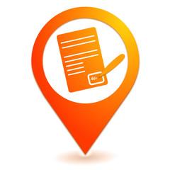 signature de contrat sur symbole localisation orange