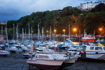 ILFRACOMBE, DEVON/UK - AUGUST 17: View of Ilfracombe harbour at