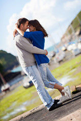 Young attractive couple in love , love story