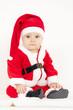 little girl as Santa Claus