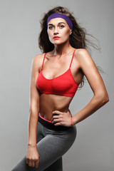 attractive fitness woman, trained female body, lifestyle