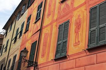 Häuserzeile in Rapallo