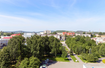 Panorama of the central historic district of the city Nizhny Tag