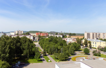 Top view of the historic district of the city of Nizhny Tagil. R