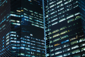 Office buildings in the night