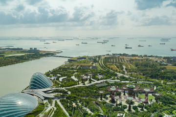 Fantastic Singapore view at Gardens by the Bay