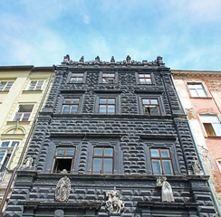 Black House on the Market Square of Lviv, Ukraine