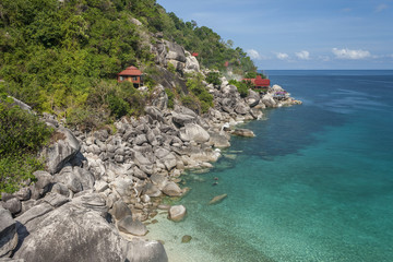 Beautiful tropical island with nice bungalow. Koh Tao island