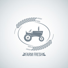 farm fresh tractor design background