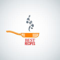 frying pan design background