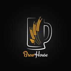 beer bottle glass barley design menu background