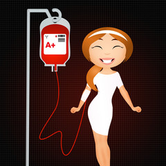 illustration of blood donation