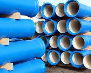 pipes for transporting water and sewerage