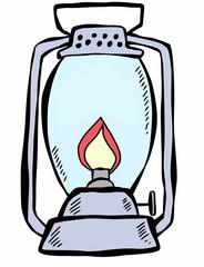 doodle retro lantern