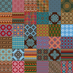Most popular ethnic seamless textures in mega pack collections.