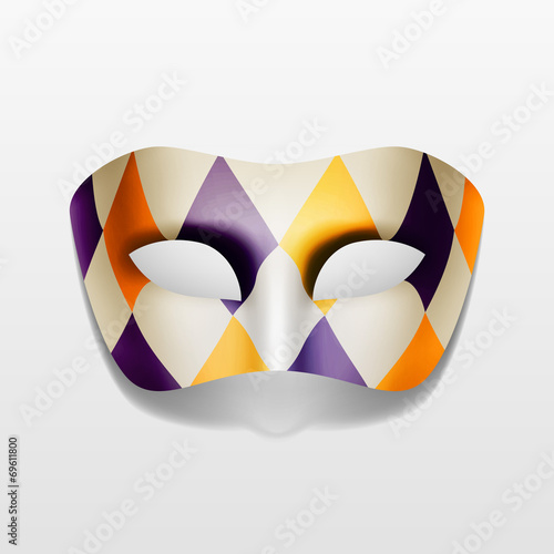 Vector Carnival Masquerade Party Mask Isolated - 69611800