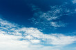 Blue Sky With White Clouds On Summer Day