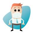 virus grippe mundschutz business mann
