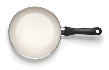 empty pan isolated on whitte abckground with clipping path