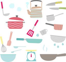 台所の調理器具