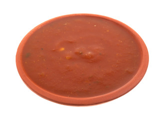 Bowl of jalapeno salsa sauce