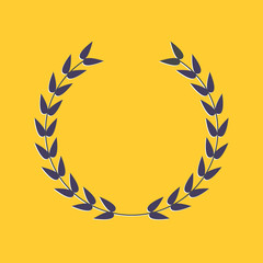 Round laurel foliate. Award concept. Flat design style.