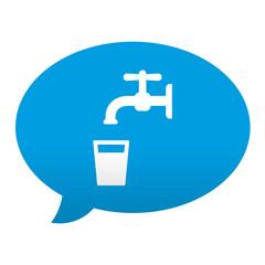 Etiqueta tipo app azul comentario simbolo agua potable