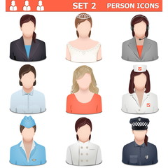 Vector Person Icons Set 2
