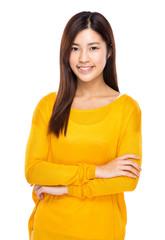 Woman cross arm