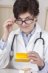 Doctor with medication