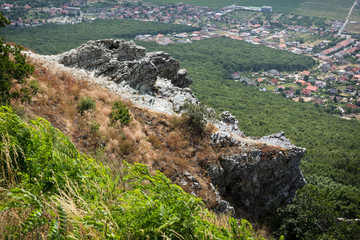 Rocks, forest and villages