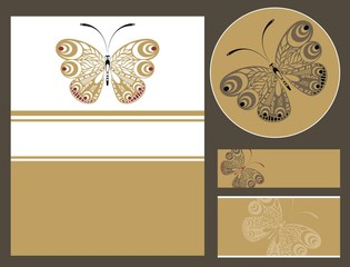 Abstract butterfly card design