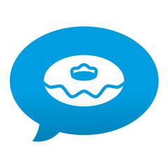 Etiqueta tipo app azul comentario simbolo rosquilla
