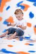 canvas print picture - Kind mit Farben