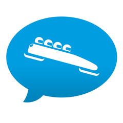 Etiqueta tipo app azul comentario simbolo bobsleigh