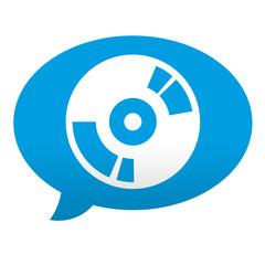 Etiqueta tipo app azul comentario simbolo DVD