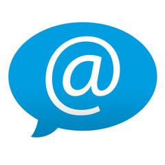 Etiqueta tipo app azul comentario simbolo e-mail