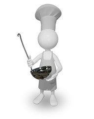 cook with a ladle