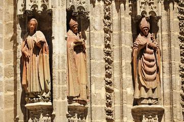Puerta de San Miguel, catedral de Sevilla, España