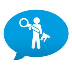 Etiqueta tipo app azul comentario simbolo login usuario