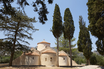 Greek church of Panagia Kera. Crete. Greece