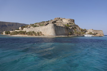 Spinalonga island in Crete near Elounda. Greece
