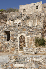 Spinalonga ruins in Crete near Elounda. Greece
