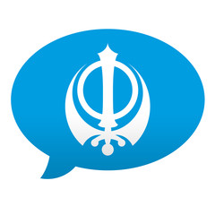 Etiqueta tipo app azul comentario simbolo sij