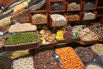 dried fruit stall