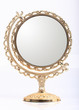 golden makeup mirror isolated - 69615684
