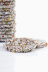 Gestapelte Ringe aus Schokolade