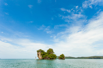 Thai Island with blue sky and sea
